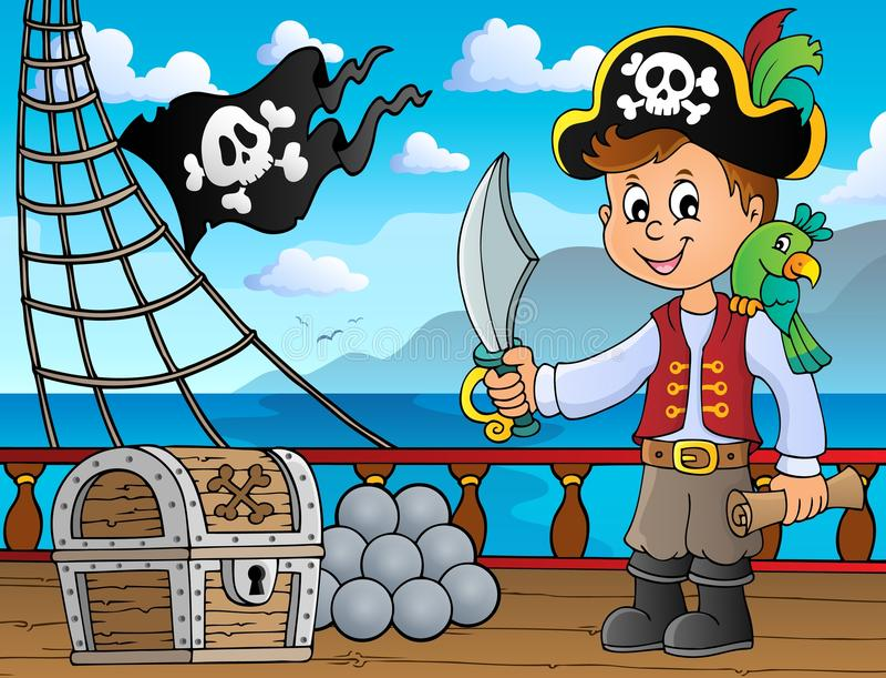 Imagem 4 do assunto do menino do pirata ilustração do vetor