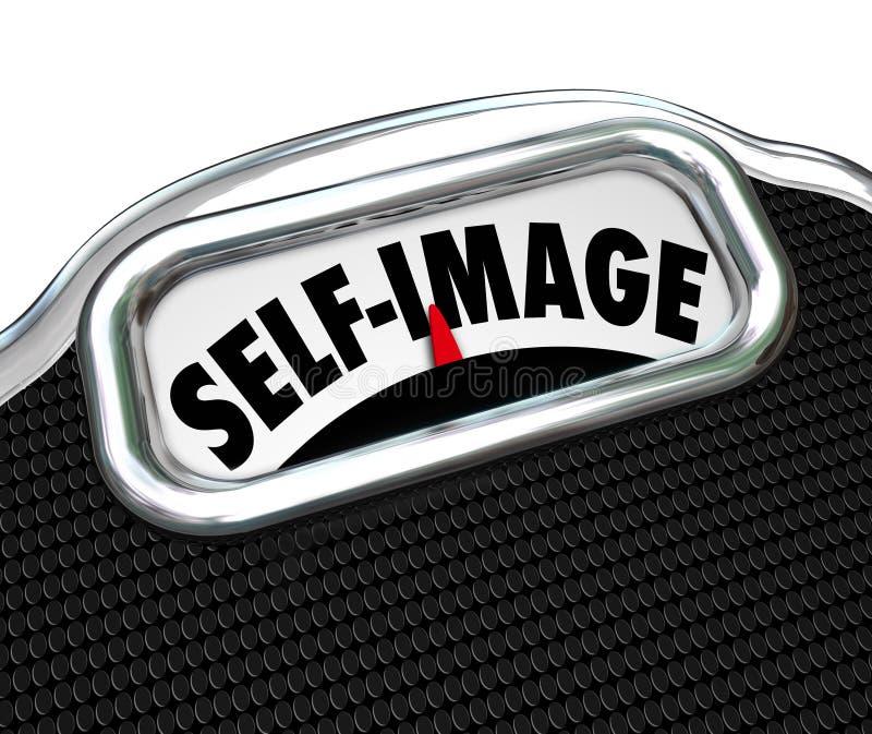 A imagem do auto da exposição da escala consciente perde o peso ilustração stock