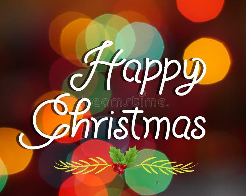 Imagem do bokeh do cartão de cumprimentos do Natal ilustração stock