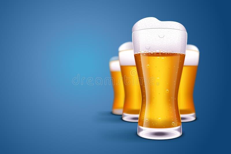 Imagem do borrão da cerveja ilustração royalty free