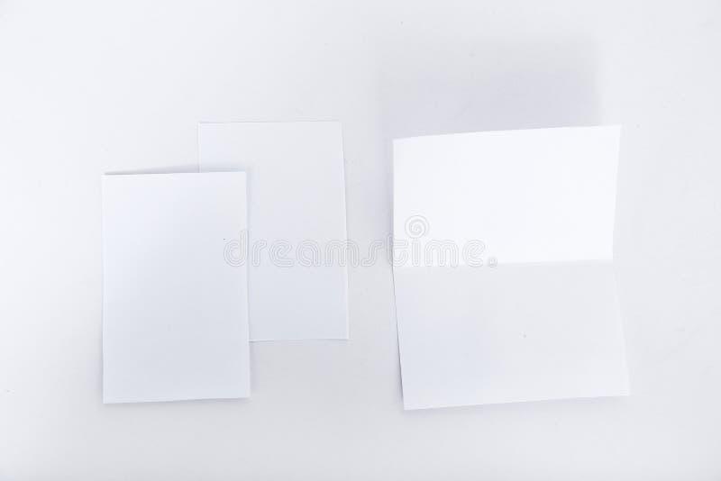 Imagem do cartão de cumprimentos branco vazio imagens de stock