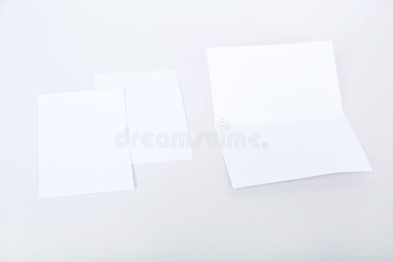 Imagem do cartão de cumprimentos branco vazio fotos de stock royalty free