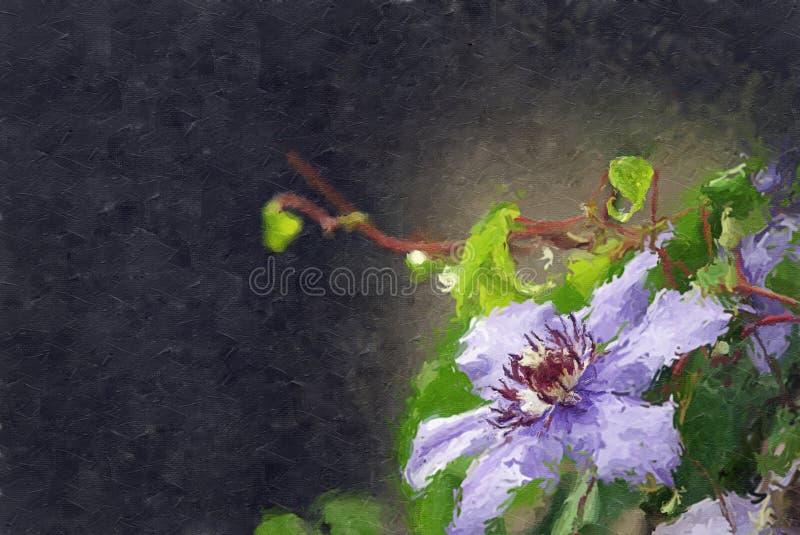 Clematis roxo ilustração royalty free
