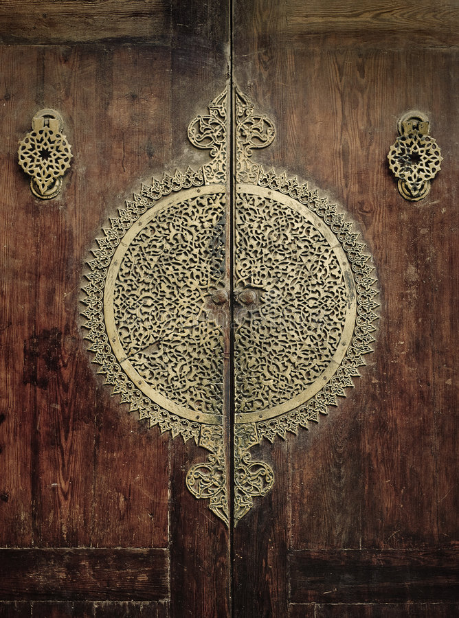 Imagem do Close-up de portas antigas foto de stock royalty free