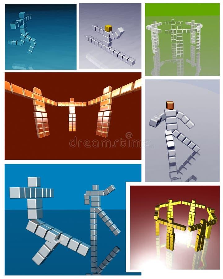 Imagem do composto do robô ilustração do vetor