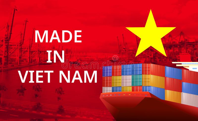 Imagem do conceito de Made in Vietnam, conceito de Economia imagem de stock