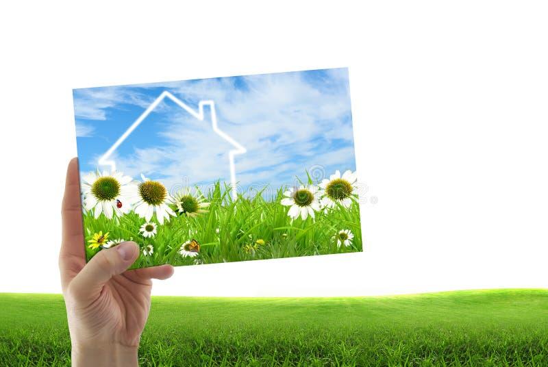 Imagem do conceito de uma casa ideal imagem de stock royalty free