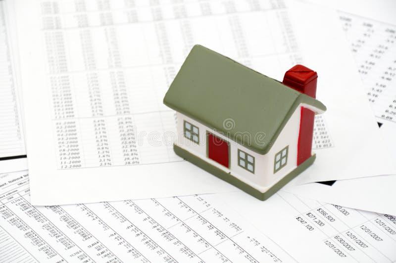 Imagem do conceito do mercado imobiliário fotos de stock