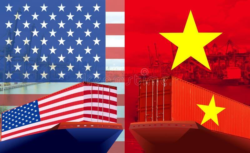 Imagem do conceito EUA - guerra comercial do Vietname, conflito econômico, fricções comerciais fotos de stock