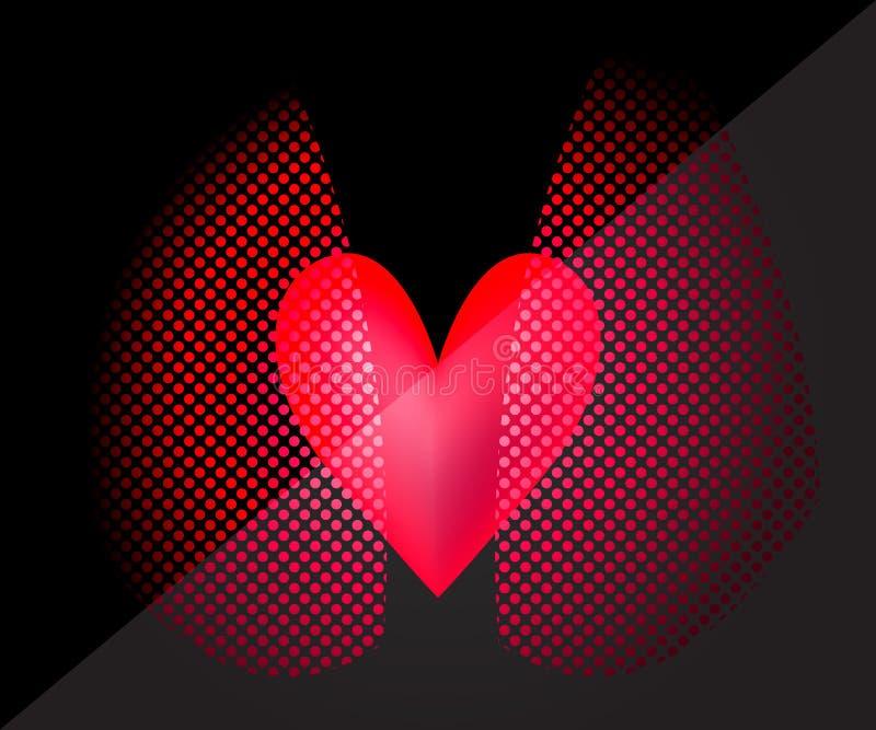 Imagem do coração e dos pulmões ilustração stock