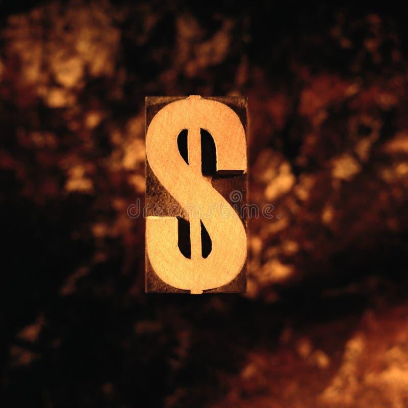 Imagem do dólar do sinal fotografia de stock royalty free