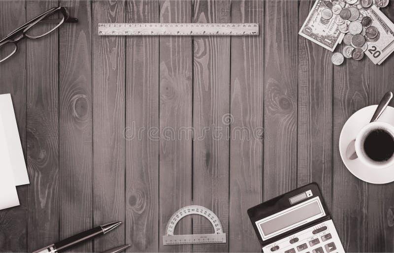 Imagem do desktop do estilo do vintage fotos de stock