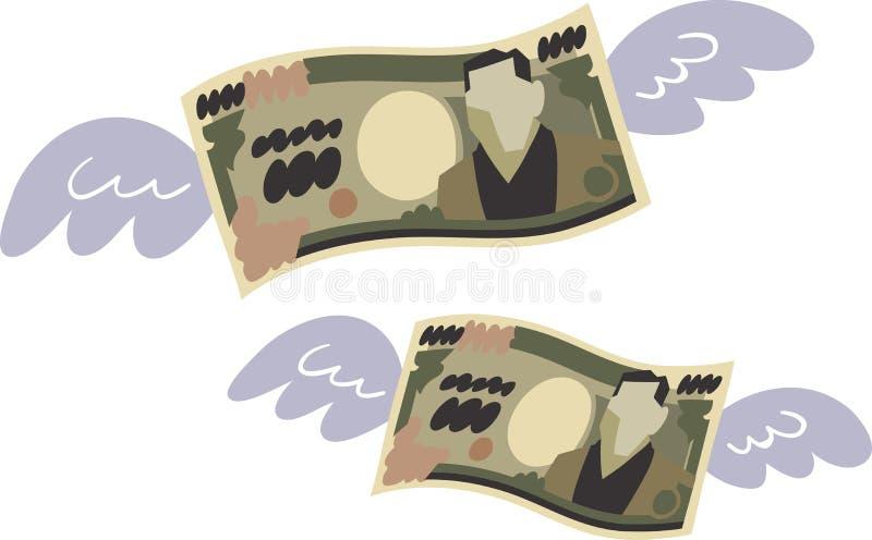 A imagem do desperdício do dinheiro ilustração do vetor