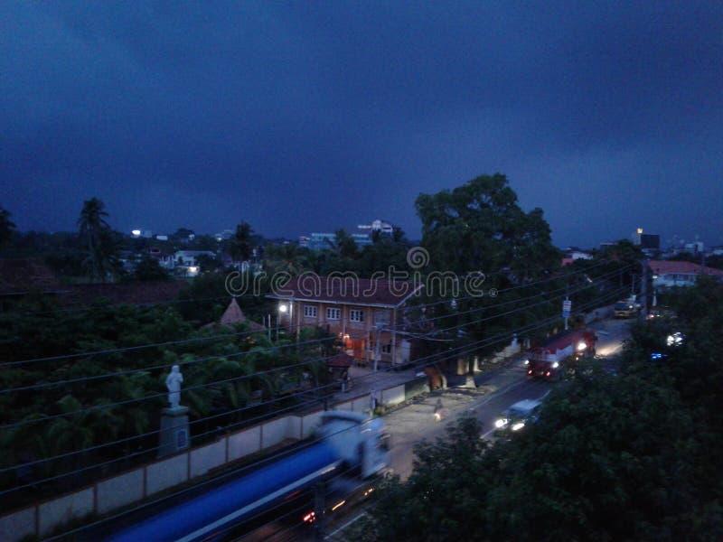 Imagem do dia chuvoso de Sri Lanka foto de stock