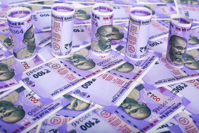 Imagem do dinheiro indiano foto de stock