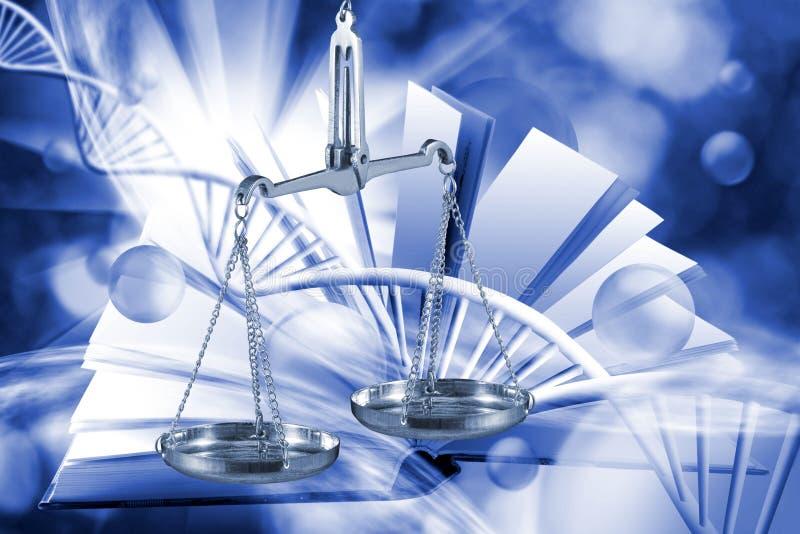 Imagem do equipamento microbiológico e médico em um fundo tecnologico foto de stock royalty free