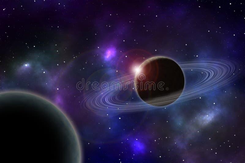 Imagem do espaço profundo ilustração do vetor