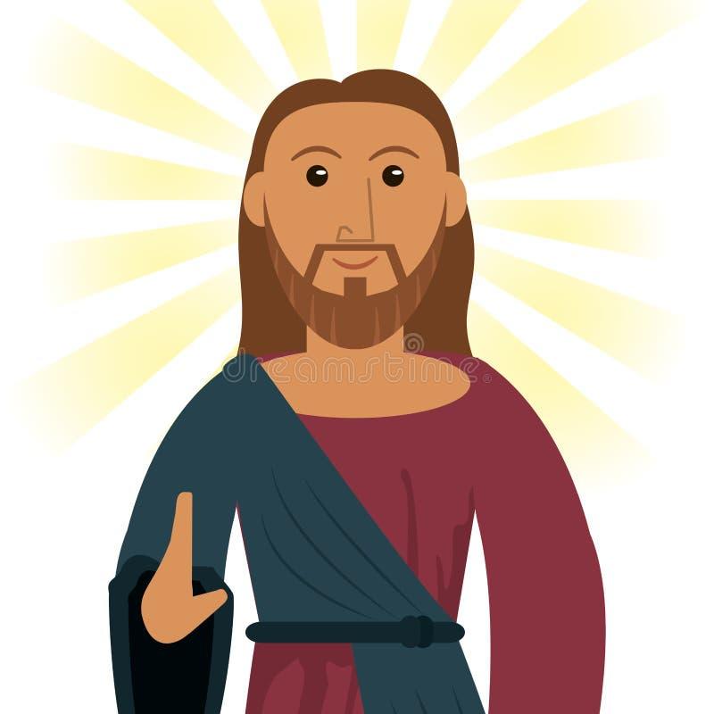 Imagem do espiritual da devoção de Jesus christ ilustração stock