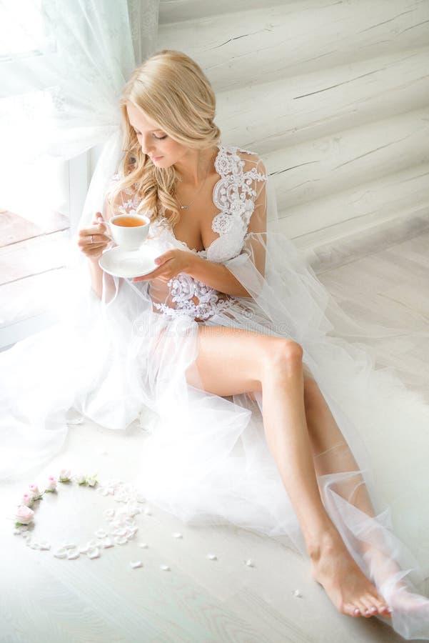 Imagem do estilo da forma da mulher consideravelmente sedutor fotos de stock royalty free