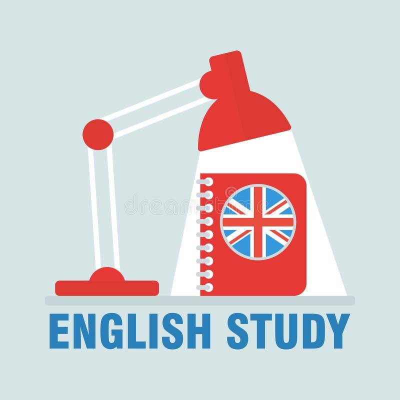 Imagem do estudo do inglês ilustração stock