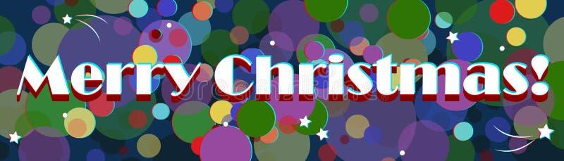 Imagem do Feliz Natal com a bandeira ou o invitati do cartaz do efeito 3D ilustração stock