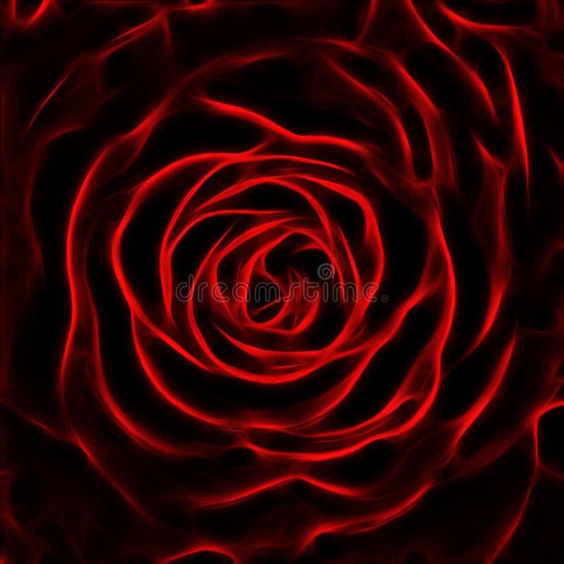 Imagem do fractal da flor de Rosa foto de stock royalty free