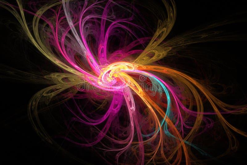 Imagem do Fractal: flor abstrata ilustração stock
