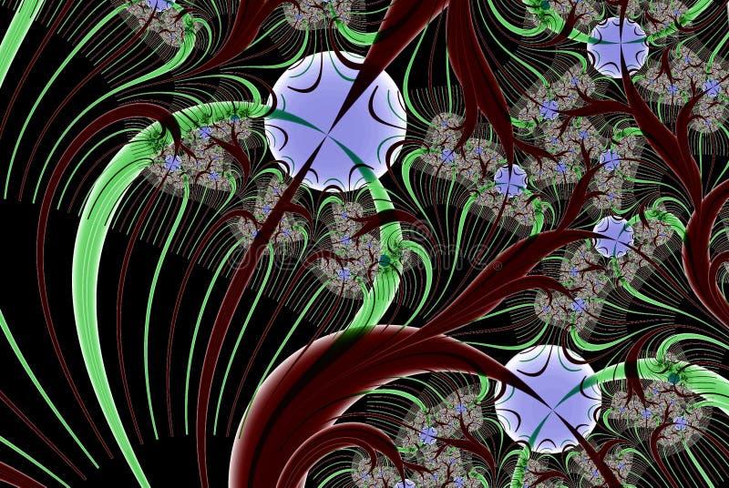 Imagem do Fractal: o teste padrão intrincado no estilo oriental ilustração royalty free