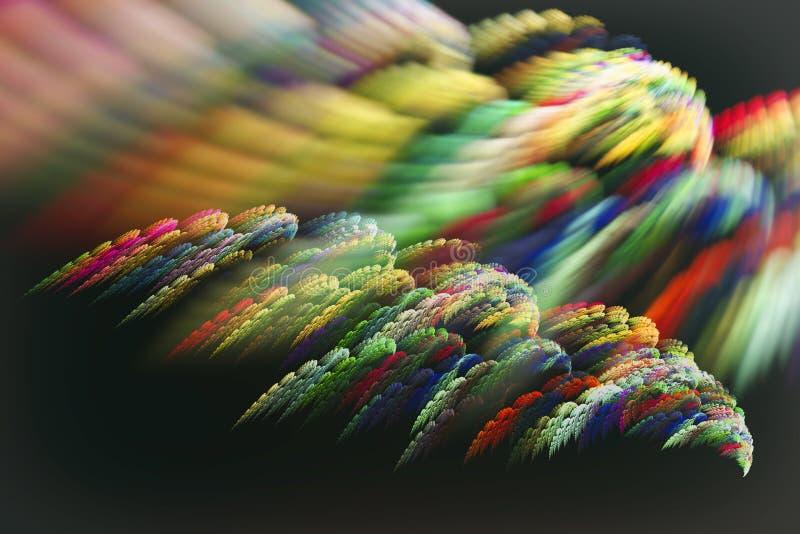Imagem do Fractal sob a forma das penas de um pássaro mágico ilustração stock