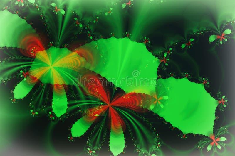 Imagem do Fractal: Voo das borboletas ilustração do vetor