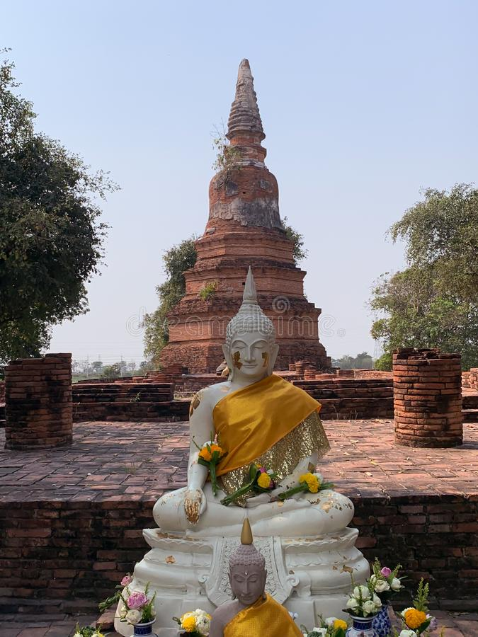 Imagem do fundo da Buda foto de stock
