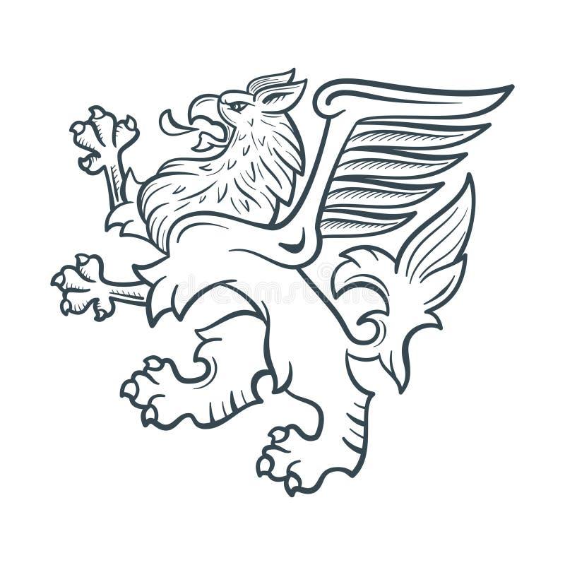 Imagem do grifo heráldico ilustração stock