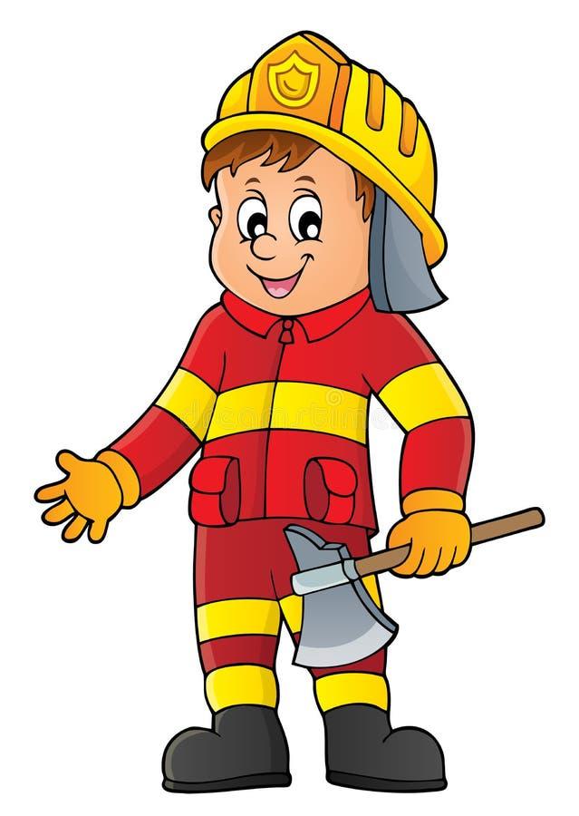 Imagem 1 do homem do sapador-bombeiro ilustração do vetor