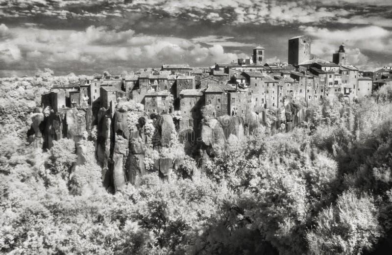 Imagem do IR da vila pequena de Vitorchiano imagem de stock
