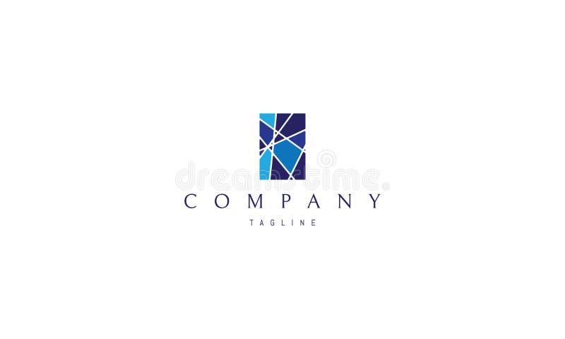Imagem do logotipo do vetor da janela de vitral ilustração royalty free