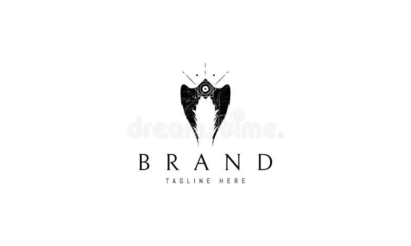 Imagem do logotipo do vetor de Angel Wings ilustração stock