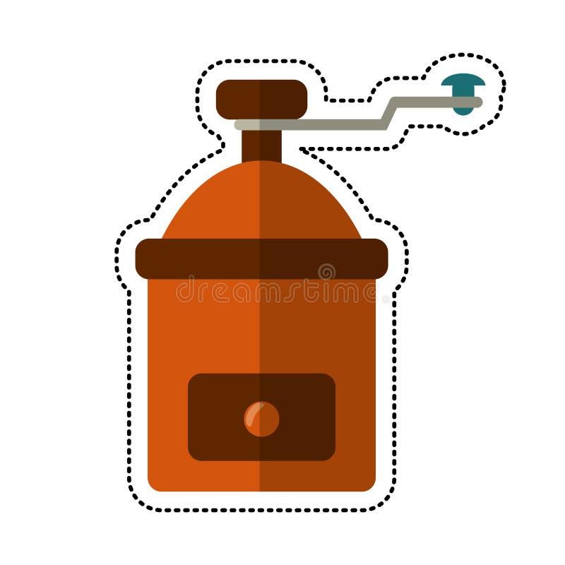 imagem do manual do moedor de café dos desenhos animados ilustração stock