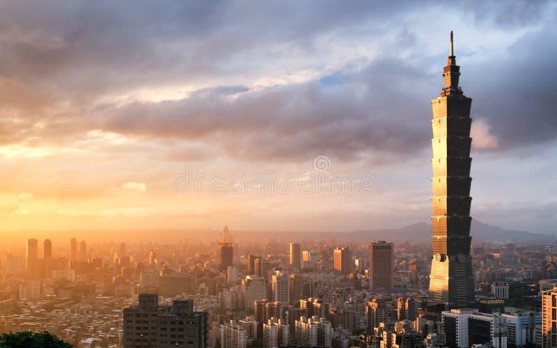 Imagem do marco de Taipei 101 que constrói, Taipei, Taiwan fotos de stock royalty free