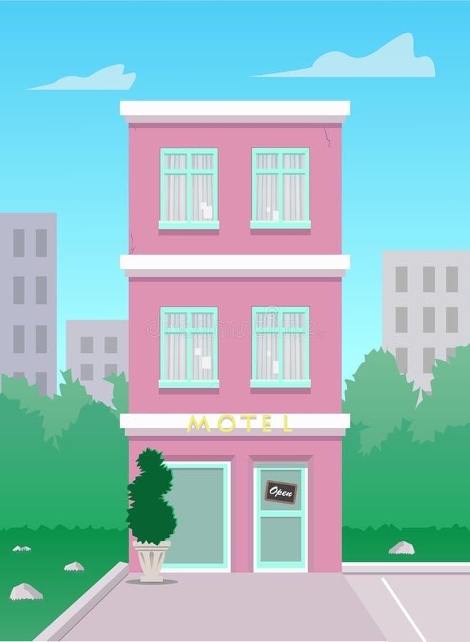 A imagem do motel ilustração do vetor