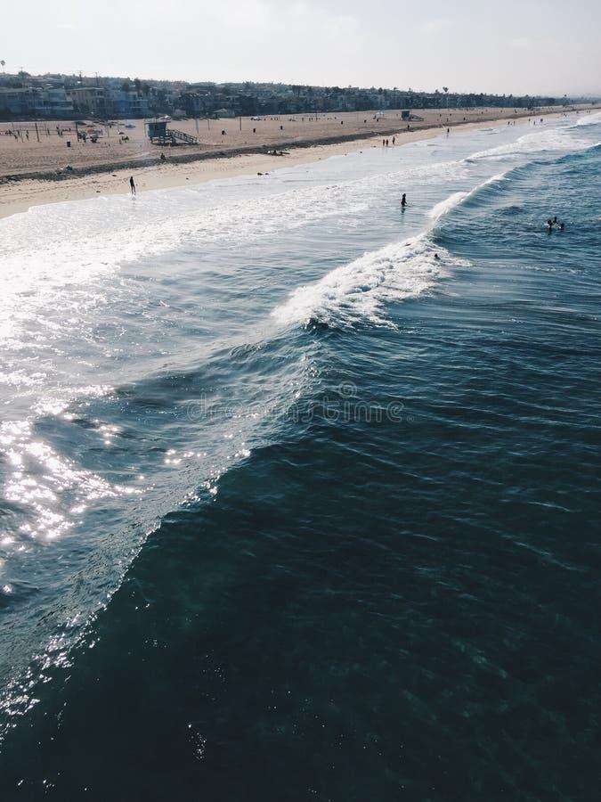 Imagem do oceano da costa de Califórnia imagens de stock