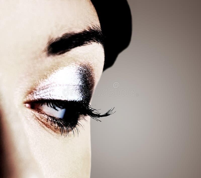 Imagem do olho humano imagem de stock