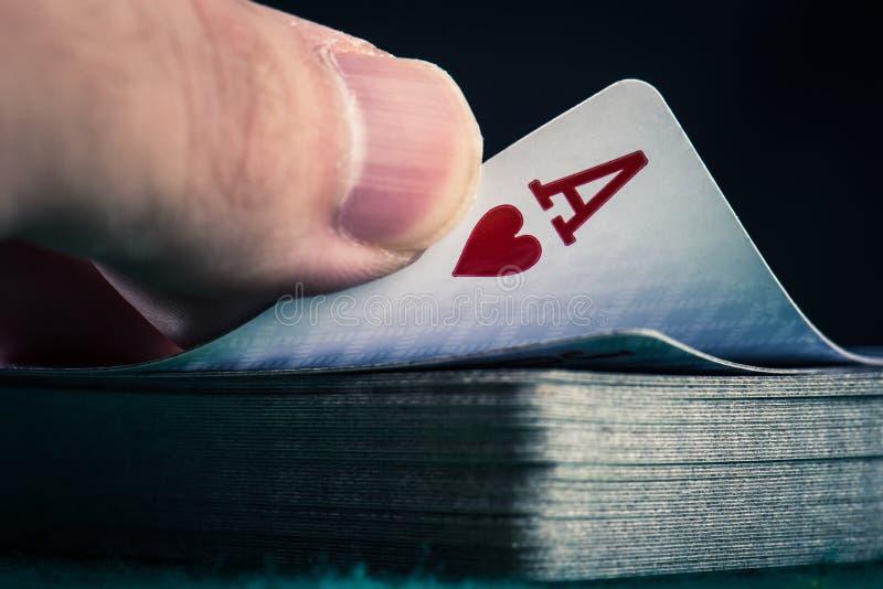 Imagem do pôquer do casino fotos de stock