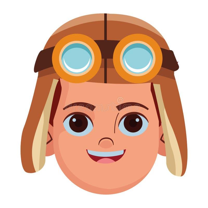 Imagem do perfil do avatar da crian?a ilustração royalty free