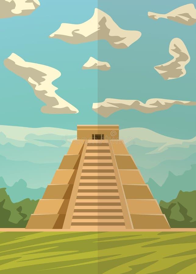 Imagem 01 do piramyd do Maya ilustração royalty free