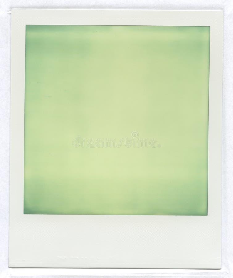 Imagem do Polaroid, luz - verde imagem de stock