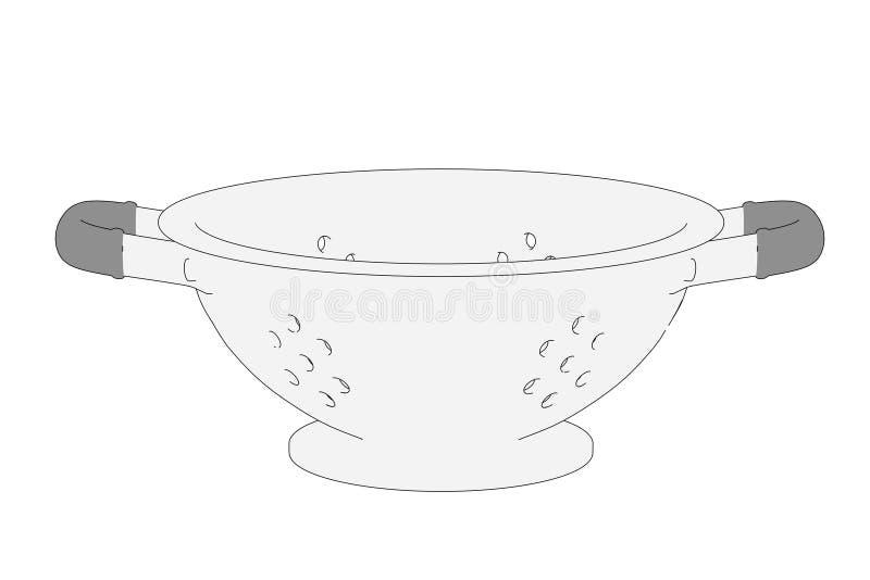 Imagem do prato - peneira ilustração do vetor