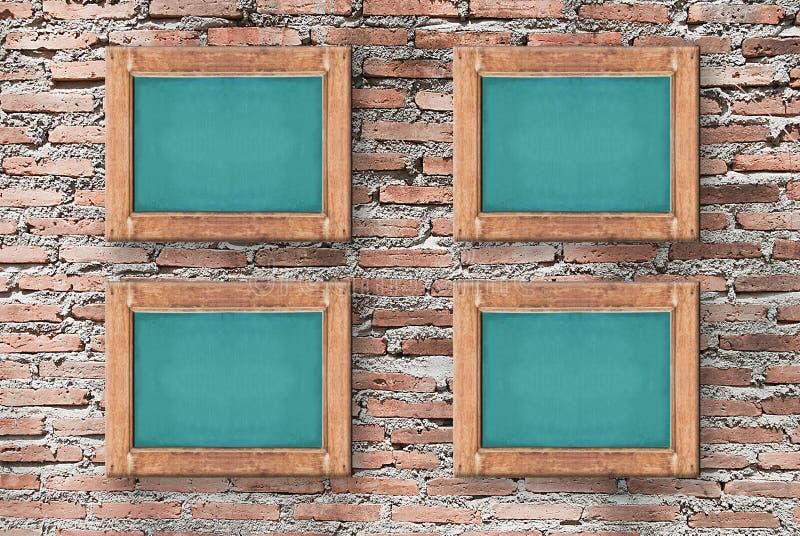 Imagem do quadro na textura da parede de tijolo, fundo para o projeto imagem de stock royalty free
