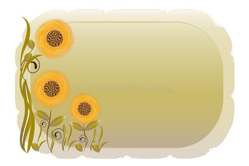 Imagem do quadro do vintage das flores da mola ilustração royalty free