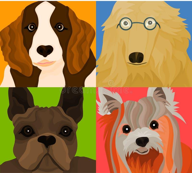Os cães ilustração do vetor