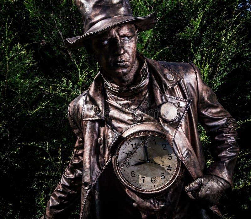 Imagem do relojoeiro no stylization brilhante da fantasia imagem de stock